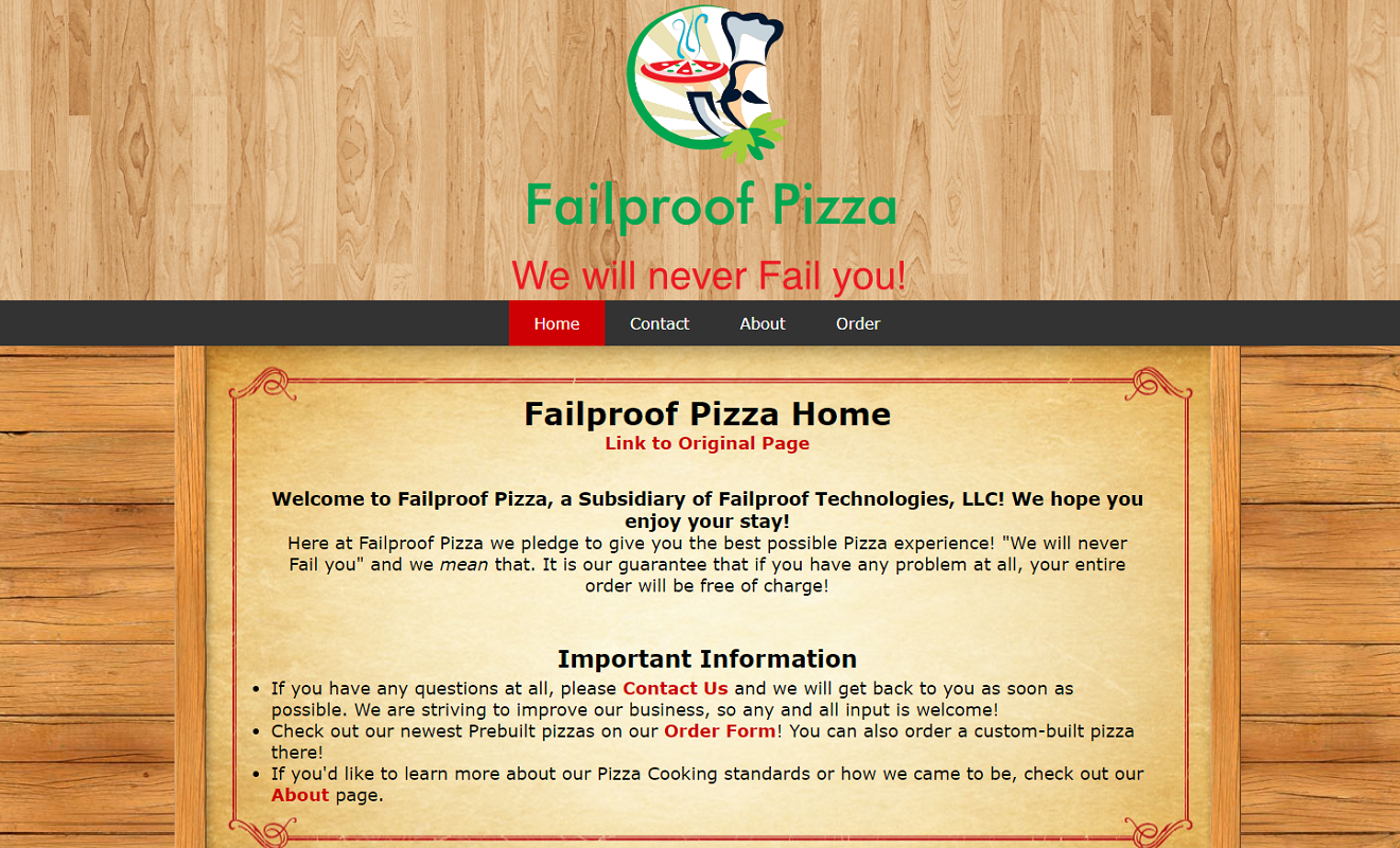 Failproof Pizza Screenshot