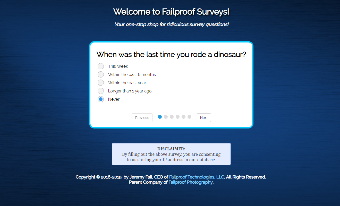 Web Poll Survey Screenshot